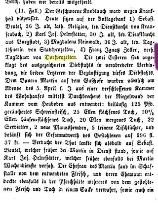 Würzburger Abendblatt 12 Nov 1852: Ignaz Zöller.