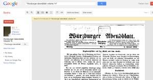 Wurzburger Abendblatt front cover