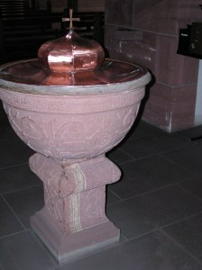 The baptismal font would have been the one in which Juliana was baptised.